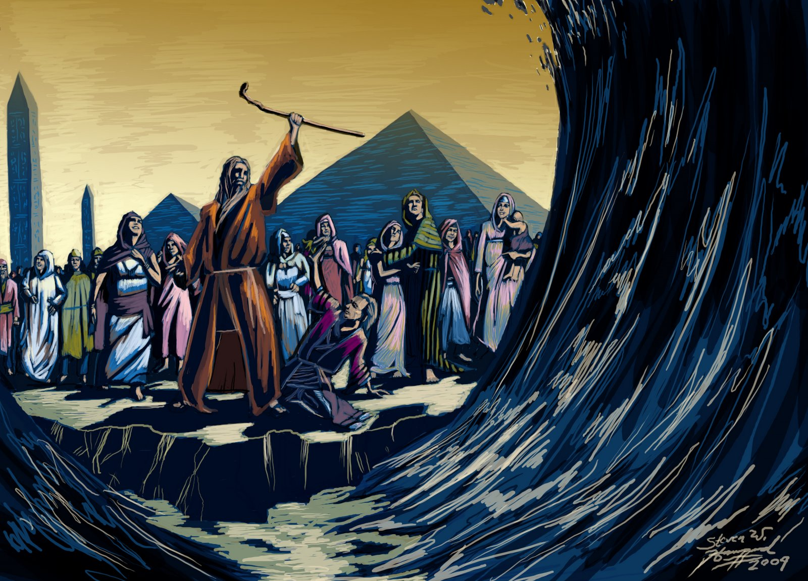 MOSES Leads the Jews out of Egypt - by Stephen Howard