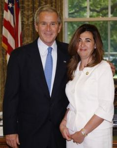Houda Nonoo with former president George W. Bush