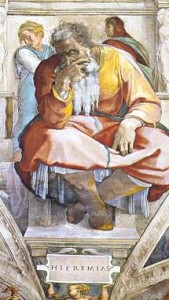 'Jeremiah' by Michelangelo (from the Sistine Chapel)