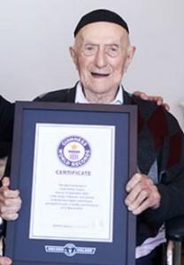 Israel Kristal, World's Oldest Living Man (Credit: Guinness World Records)