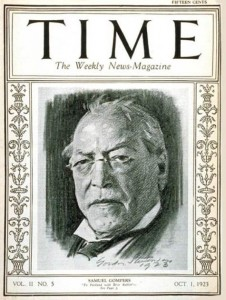 Samuel Gompers on the cover of TIME Magazine