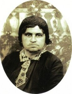 The only known photograph of Sarah Schenirer, taken for a passport