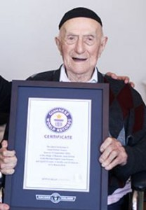 Israel Kristal, World's Oldest Living Man (Credit: Guinness World Records)