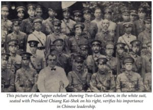 Morris Cohen sitting next to Chinese President Chiang Kai-Shek (Credit: Joe King)